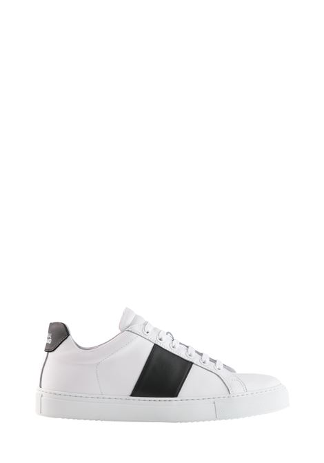 WHITE SNEAKER BLACK BAND LEATHER  NATIONALSTANDARD | Sneakers | M04BL009