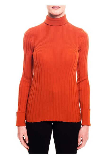 HIGH NECK WOOL ARANZION SWEATER Nude | Sweaters | 1101023162
