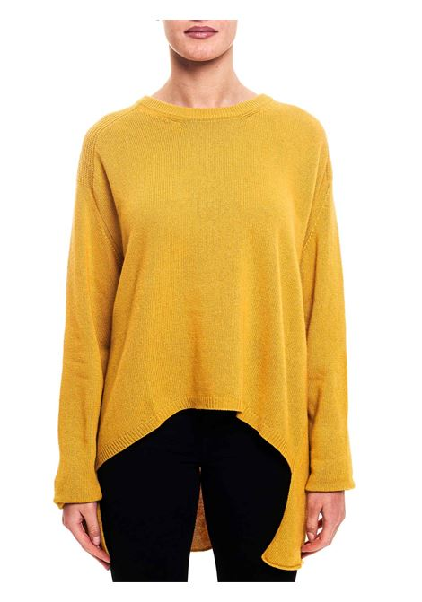 MUSTARD SWEATER IN WOOL AND CASHMERE BLEND Nude | Sweaters | 1101040141