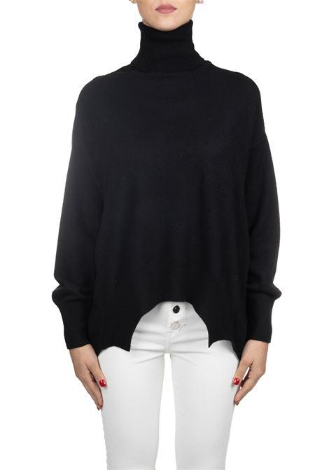 BLACK KNIT IN A WOOL COLLAR Nude | Sweaters | 110104109