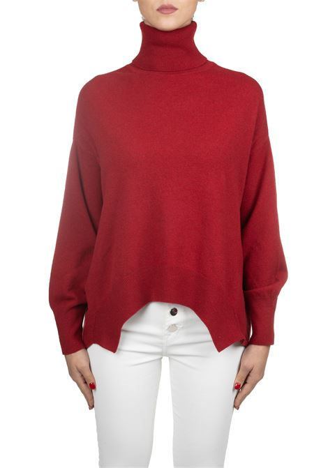 RED KNIT IN A WOOL COLLAR Nude | Sweaters | 1101041146