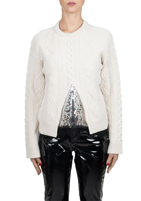 WHITE WOOL SWEATER WITH SEQUINS Nude | Sweaters | 110104701