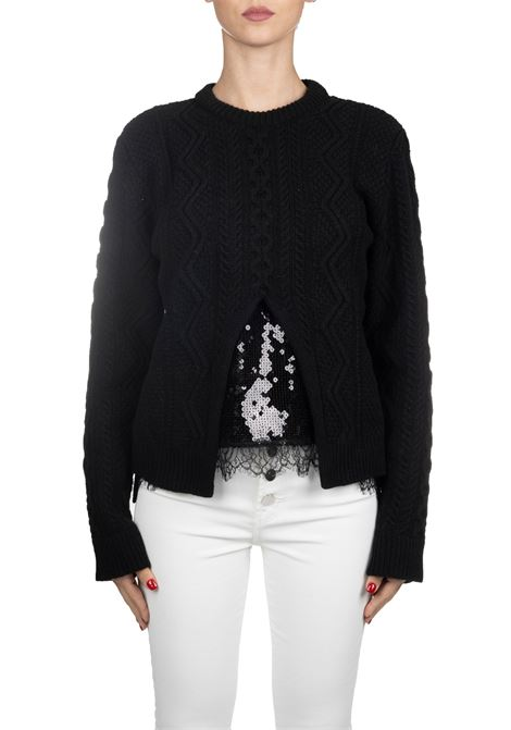 BLACK WOOL SWEATER WITH SEQUINS Nude | Sweaters | 110104709