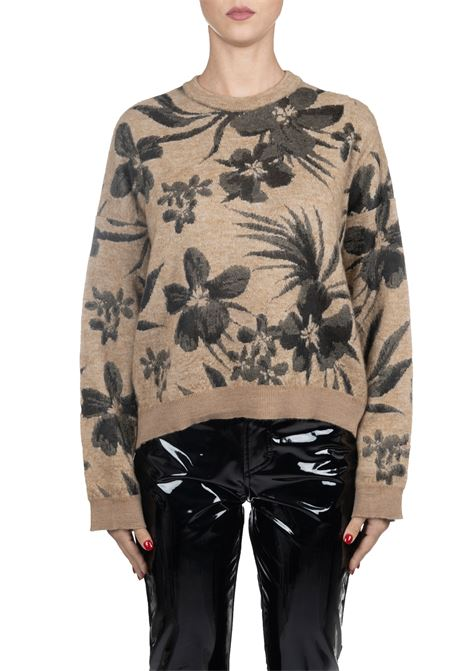 CARAMEL SWEATER WITH FLOWER EMBROIDERY Nude | Sweaters | 1101084232