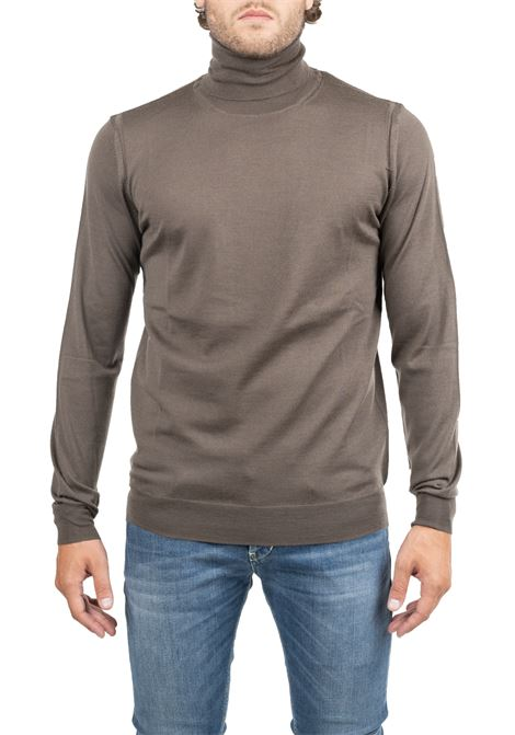 EXTRA FINE BROWN MERINO WOOL SWEATER PAOLO PECORA | Sweaters | A003F0012232