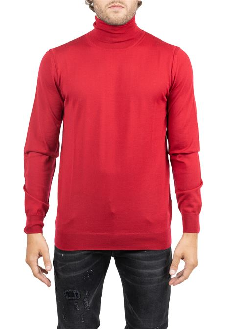 RED WOOL  JERSEY LUPETTO PAOLO PECORA | Sweaters | A003F0014462