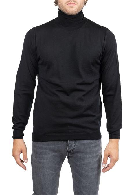 BLACK WOOL JERSEY LUPETTO PAOLO PECORA | Sweaters | A003F0019000