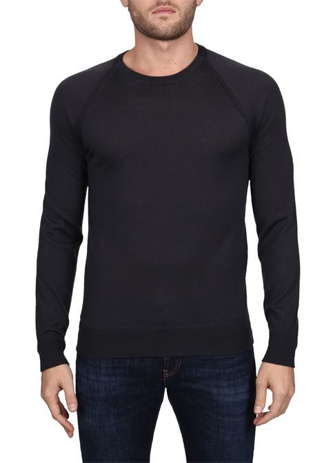 ANTHRACITE WOOL SWEATER PAOLO PECORA | Sweaters | A019F0018757