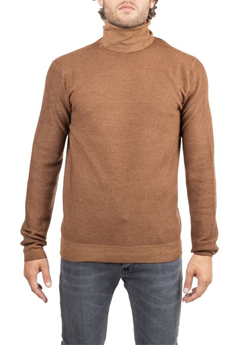 BEIGE MESH WOOL SWEATER PAOLO PECORA | Sweaters | A030F0101181