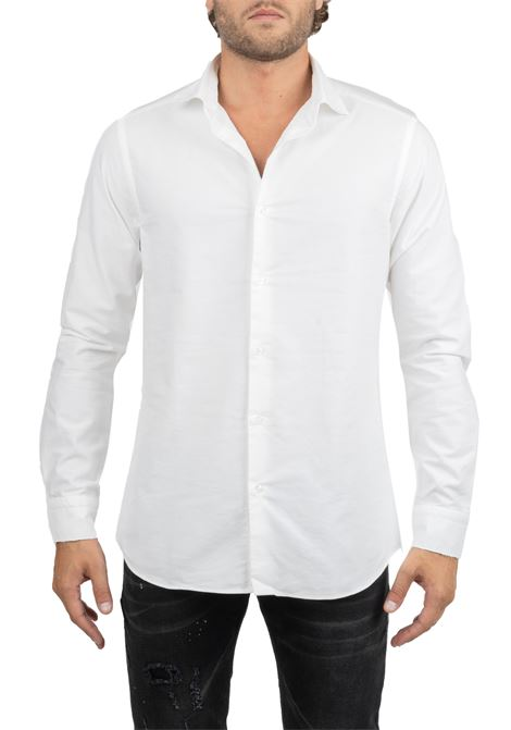 WHITE COTTON SHIRT PAOLO PECORA | Shirts | G041T0041101