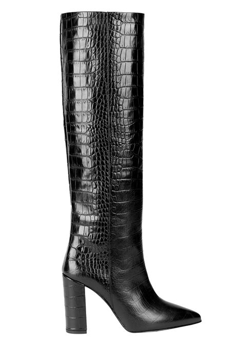 BLACK LEATHER IN CROCODILE PRINT LEATHER PARIS TEXAS |  | PX120CMOCCROCOBLACK