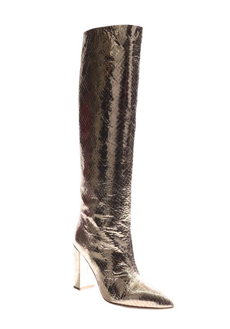 EMBELLISHED GOLDEN KNEE BOOTS PARIS TEXAS |  | PX120PLMETALLICSNAKEgold