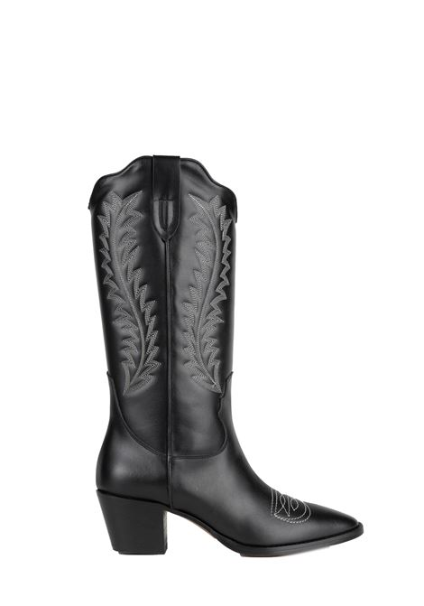 BLACK LEATHER BOOT WITH EMBROIDERY PARIS TEXAS |  | PX174CALFLEATHERBLACK