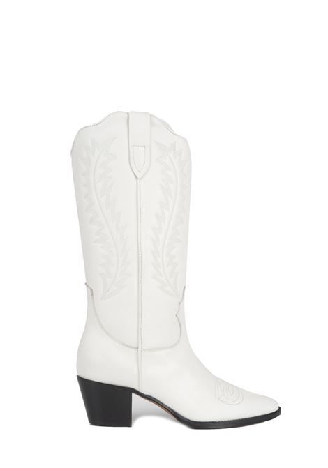WHITE LEATHER BOOT WITH EMBROIDERY PARIS TEXAS |  | PX174CALFLEATHERWHITE