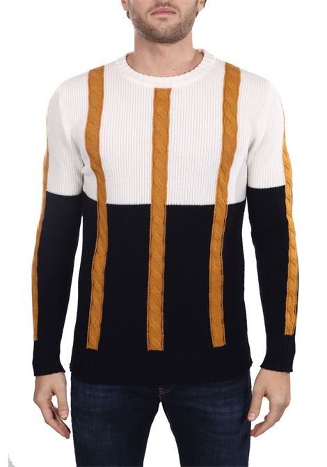 MULTICOLORED VIRGIN WOOL SWEATER PAUL MOMOIR | Sweaters | 919417A03