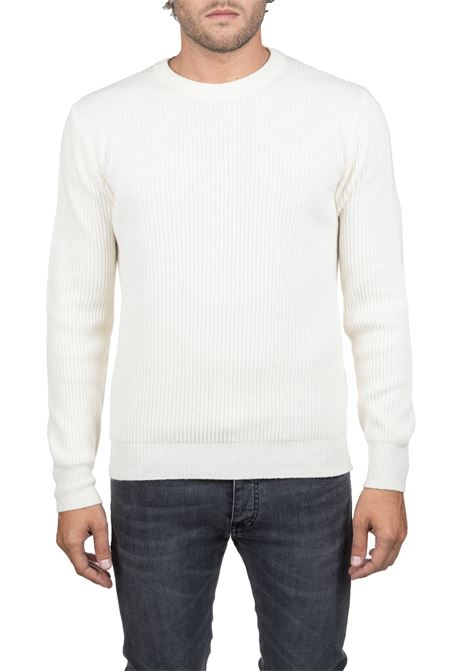 WHITE WOOLEN MESH SHIRT PAUL MOMOIR | Sweaters | 919422A01