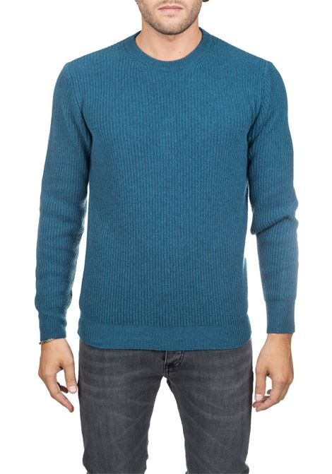 BLUE WOOLEN MESH SHIRT PAUL MOMOIR | Sweaters | 919422A13