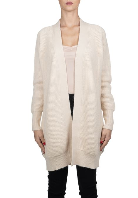 BEIGE CARDIGAN WITH GRILLED PAILLETTES PINKO | Cardigans | GRANCHE1G14HNY5QFZ22
