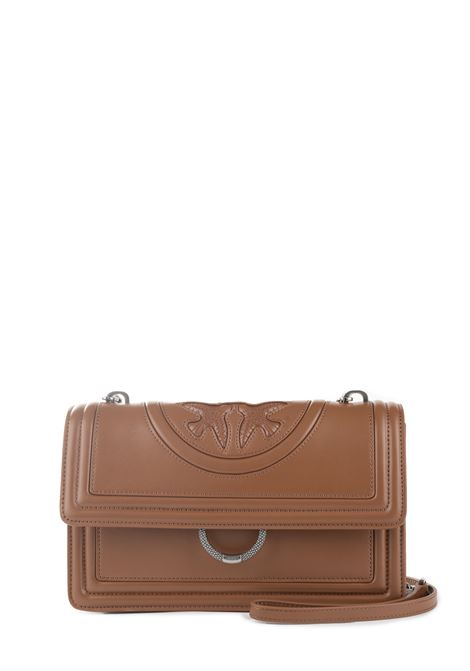MINI LOVE NEW MONOGRAM LEATHER BAG IN NAPPA PINKO | Bags | LOVENEWMONOGRAM1P21F3Y5U3L48