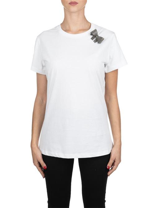 WHITE COTTON T-SHIRT MODEL MEZZOGIORNO PINKO | T-shirt | MEZZOGIORNO1B147XY5BDZ04