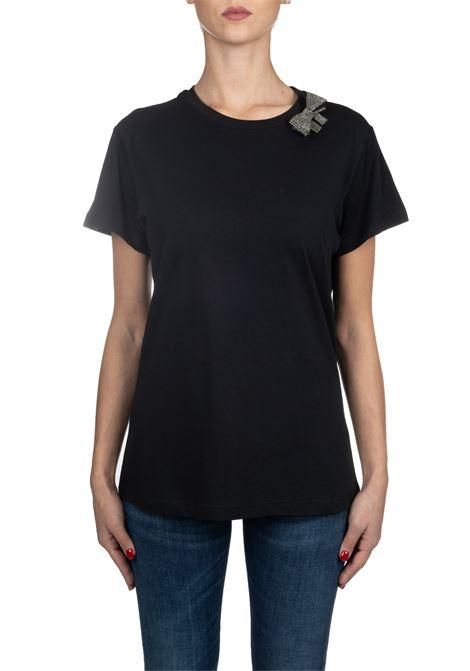 BLACK COTTON T-SHIRT MODEL MEZZOGIORNO PINKO | T-shirt | MEZZOGIORNO1B147XY5BDZ99