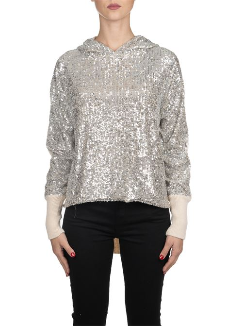 LONG PULLOVER WITH SEQUINS PINKO | Sweaters | POICHE1G14HQY5QFZ22