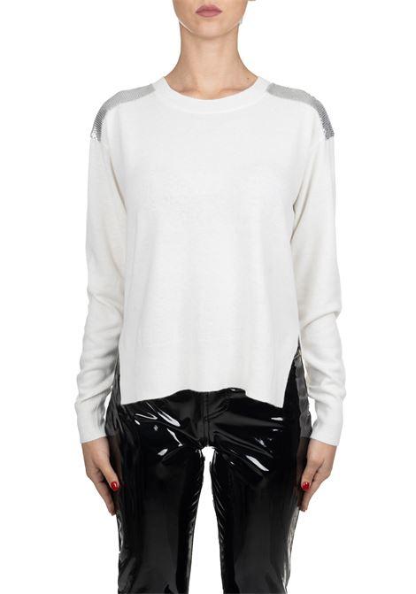 WHITE POLISH CASHMIRE MIXED PULLOVER PINKO | Sweaters | POLACCO1B1458Z478Z06