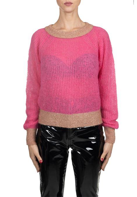 QUAGGIU SWEATER IN MIXED ALPACA AND LUREX PINKO | Sweaters | QUAGGIU1G14D3Y5Q6NN8
