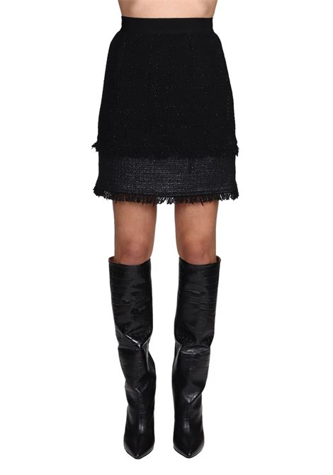 BLACK SKIRT STRENGTHEN TWEED BOUCLE LIGHT LUREX PINKO | Skirts | RAFFORZARE1G14J37700Z99