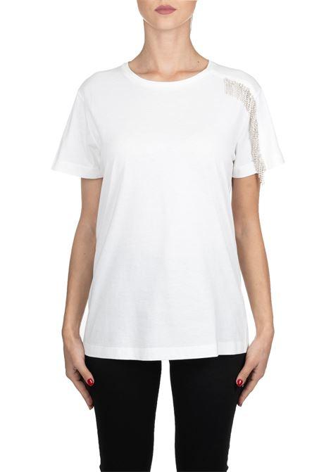 WHITE COTTON T-SHIRT MODEL REQUEST PINKO | T-shirt | RICHIEDERE1G14GG5071Z05