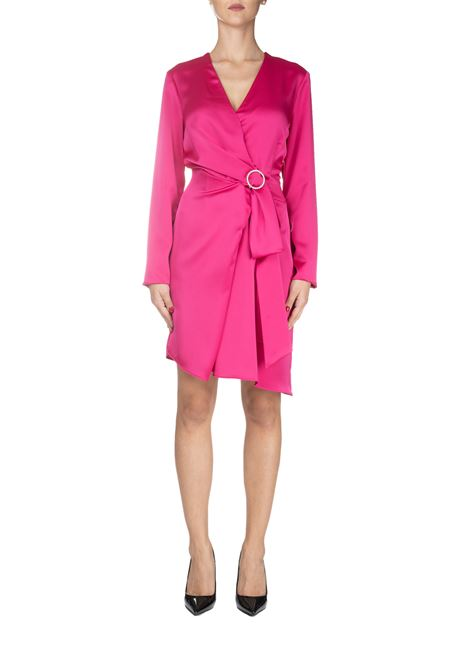 FUCSIA SAFARI SATIN DRESS PINKO | Dress | SAFARI1B141Y7773N17