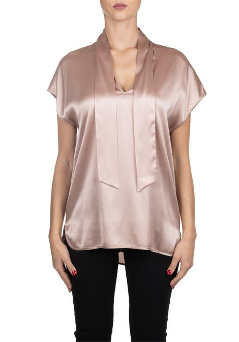 PINK BLOUSE TO WINE IN SILK SATIN PINKO | Blouse | VEGLIARE1G149NY5NSN28