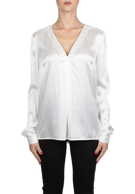 WHITE BLOUSE SELL IN SATIN SILK STRETCH PINKO | Blouse | VENDERE1G14GDY5NSZ10
