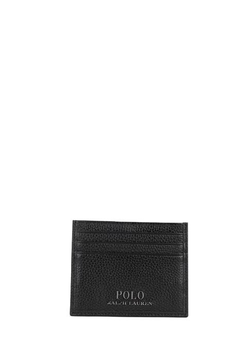 BLACK CARD HOLDER WITH FRONT LOGO POLO RALPH LAUREN | Card Holder | 405710795001
