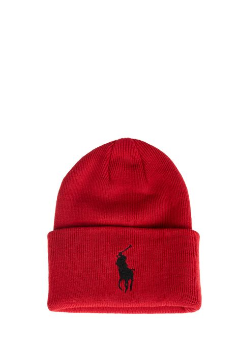 RED HAT WITH EMBROIDERY LOGO CONTRASTING POLO RALPH LAUREN | Hats | 449775525005