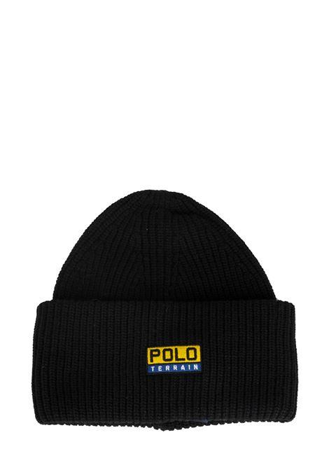 BLACK CAP POLO TERRAIN LOGO APPLICATION POLO RALPH LAUREN | Hats | 449775575001