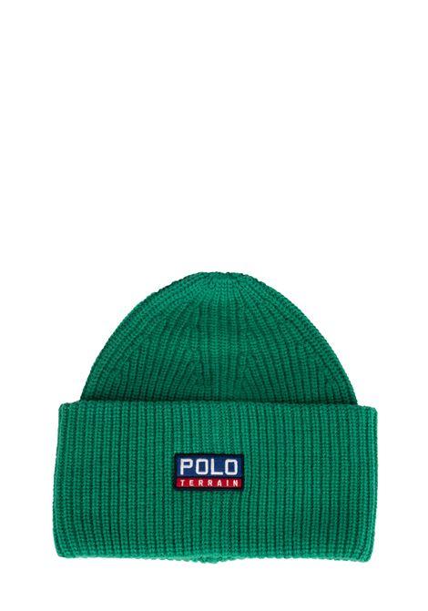 GREEN CAP POLO TERRAIN LOGO APPLICATION POLO RALPH LAUREN | Hats | 449775575003
