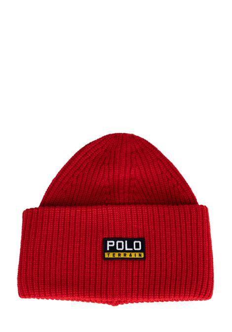 RED CAP POLO TERRAIN LOGO APPLICATION POLO RALPH LAUREN | Hair | 449775575006