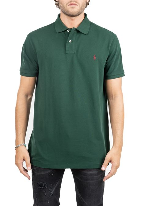 POLO Green WITH FRONTAL LOGO EMBROIDERY POLO RALPH LAUREN | Polo Shirts | 710536856121