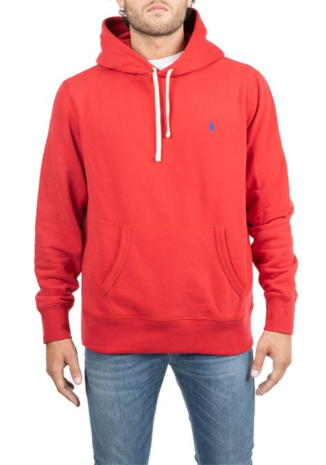 RED COTTON SWEATSHIRT WITH FORNTALE LOGO EMBROIDERY POLO RALPH LAUREN | Sweatshirts | 710766778002