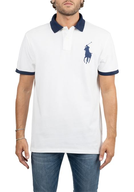 WHITE POLO WITH EMBROIDERY FRONT LOGO POLO RALPH LAUREN | Polo Shirts | 710766855003