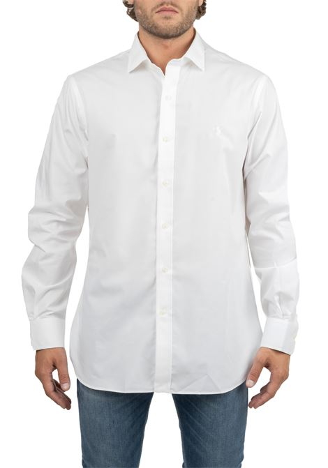 WHITE COTTON SHIRT WITH FRONT LOGO EMBROIDERY POLO RALPH LAUREN | Shirts | 712722193004