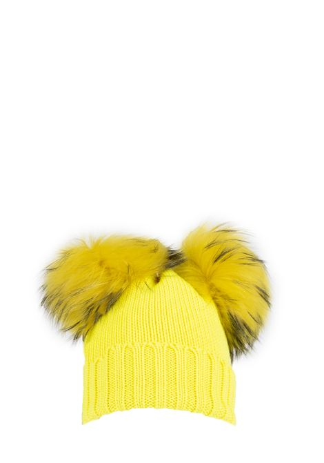 YELLOW WOOL HAT WITH TWO PUMPS REGINA | Hats | 90100GIALLO