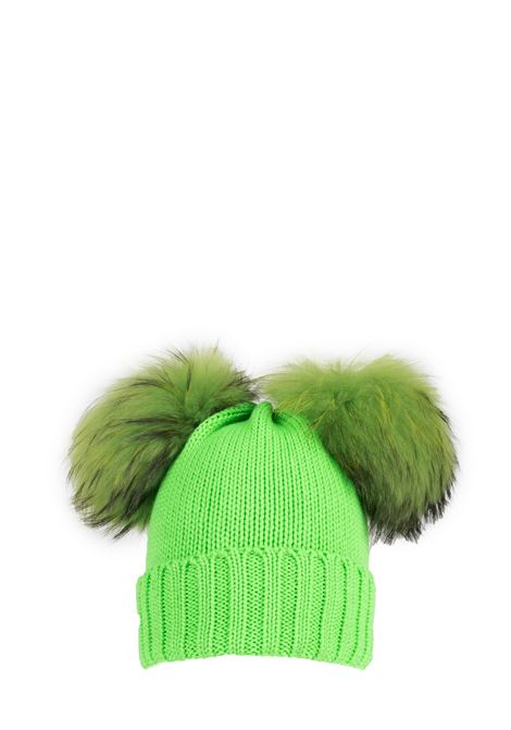 GREEN WOOL HAT WITH TWO PUMPS REGINA |  | 90100VERDE