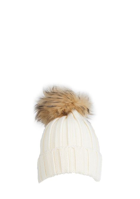 WHITE WOOL HAT WITH POMPON REGINA | Hats | 90599BIANCO