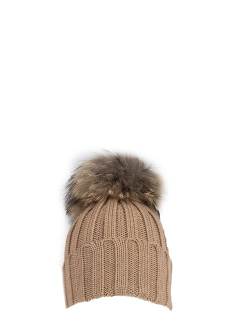 BEIGE WOOL HAT WITH POMPON REGINA | Hats | 90599CAMMELLO