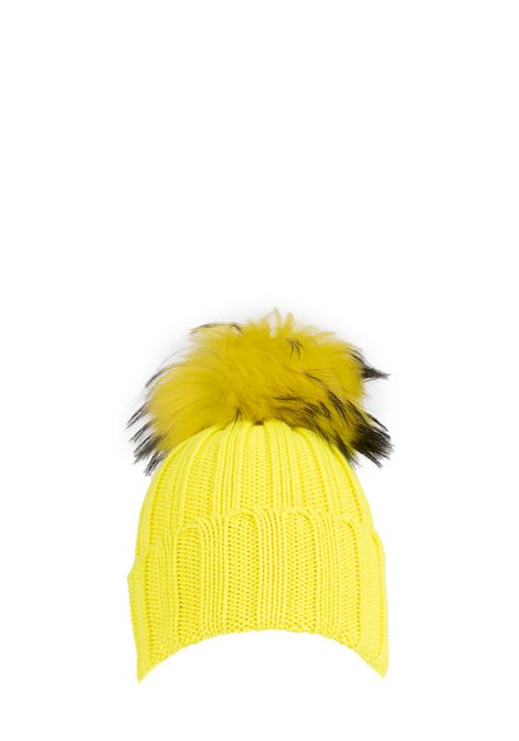 YELLOW WOOL HAT WITH POMPON REGINA | Hats | 90599DGIALLO