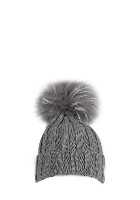 GRAY WOOL HAT WITH POMPON REGINA | Hats | 90599FUMO