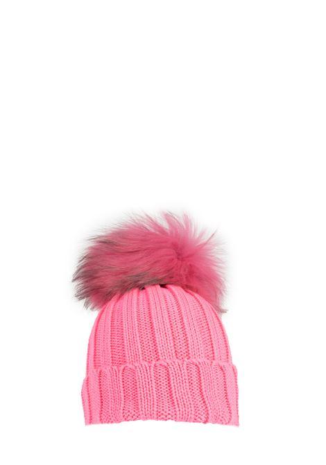 FUCSIA WOOL HAT WITH POMPON REGINA | Hats | 90599GERANIO