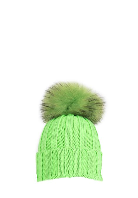 GREEN WOOL HAT WITH POMPON REGINA |  | 90599VERDE